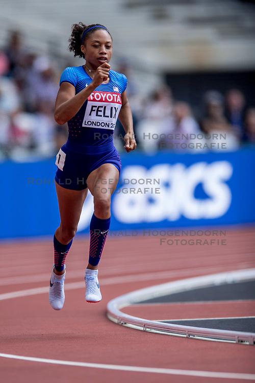 06-08-2017 IAAF World Championships Athletics day 3, London<br /> Allyson Felix USA 400m