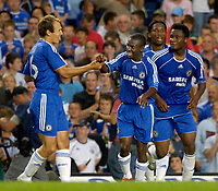 Photo: Daniel Hambury.<br />Chelsea v Glasgow Celtic. Pre Season Friendly. 09/08/2006.<br />Chelsea's Shaun Wright-Phillips (centre) celebrates his goal. 1-1.