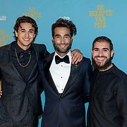 NLD/Amsterdam/20191007 De Belote van Pisa premiere, Shahine El Hamus, Mao Bouzamour  en