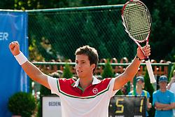 Aljaz Bedene of Slovenia wins against Ivan Navarro of Spain during day five of the ATP Challenger Tour BMW Ljubljana Open 2011, on September 23, 2011, in TC Ljubljana Siska, Ljubljana, Slovenia. (Photo by Matic Klansek Velej / Sportida)