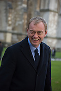 TIM FARRON, ( WAS WALKING PAST ) Service of Thanksgiving for the life of Edward Baron Montagu of Beaulieu. St. Margaret's Westminster. London. 20 January 2016