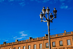 Street light in the Place du Capitol, Toulouse, France<br /> <br /> (c) Andrew Wilson | Edinburgh Elite media