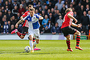 Bristol Rovers Matt Taylor goes on the attack for his team during the Sky Bet League 2 match between Bristol Rovers and Exeter City at the Memorial Stadium, Bristol, England on 23 April 2016. Photo by Shane Healey.