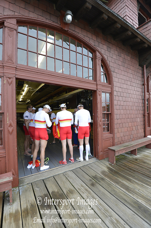 "Boston,  USA  ."" 2012 Head of the Charles"".  ..Description;  Charles River. Cambridge,  Massachusetts, Tideway Scullers Crew Meeting in the Harvard University Boathouse.   2012 Head of the Charles.  ..15:29:28  Friday  19/10/2012 ...[Mandatory Credit: Peter Spurrier/Intersport Images]"