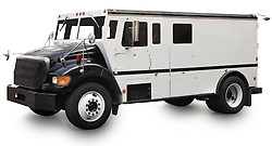 Armored truck vehicle isolated on a white background