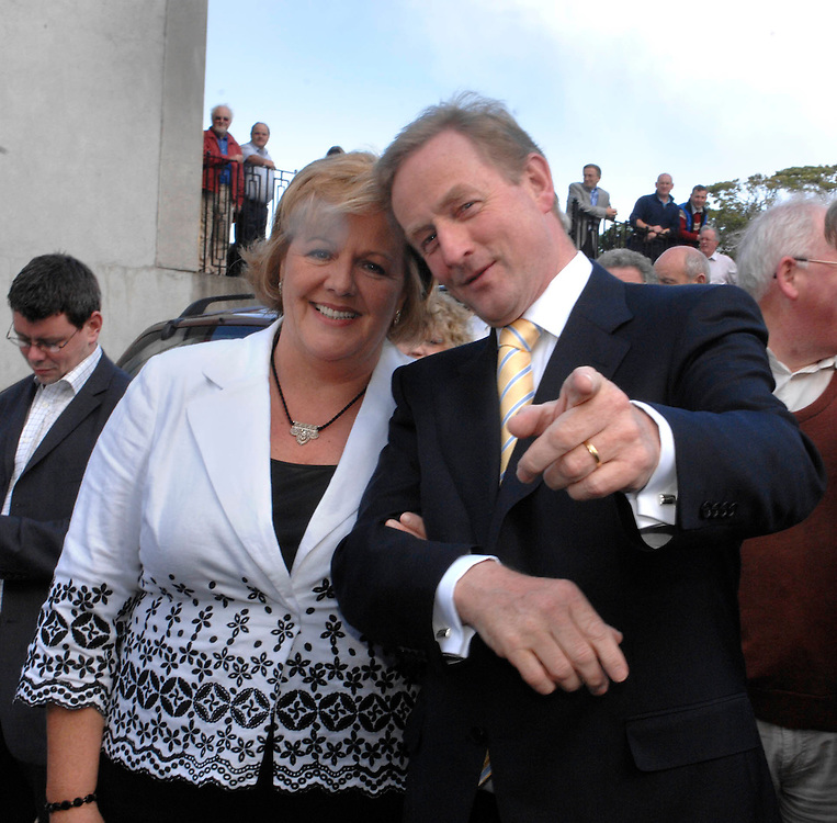 Enda Kenny at the TF Royal with wife Fionula . Pic: Michael Mc Laaughlin