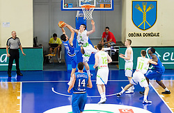 Marco Lagana of Italy vs Alen Omic of Slovenia during basketball match between National team of Slovenia and Italy in First Round of U20 Men European Championship Slovenia 2012, on July 12, 2012 in Domzale, Slovenia.  (Photo by Vid Ponikvar / Sportida.com)