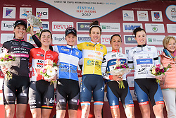 Celebrated riders on the final day of Festival Elsy Jacobs 2017. A 111.1 km road race on April 30th 2017, starting and finishing in Garnich, Luxembourg. (Photo by Sean Robinson/Velofocus)