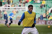Ipswich Town defender Dominic Iorfa (2) warming up before the EFL Sky Bet Championship match between Norwich City and Ipswich Town at Carrow Road, Norwich, England on 18 February 2018. Picture by Nigel Cole.