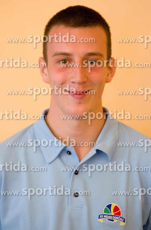 Jure Besedic during press conference of basketball team KK Helios Domzale before new season 2010-2011, on September 27, 2010 in Domzale, Slovenia. (Photo By Vid Ponikvar / Sportida.com)
