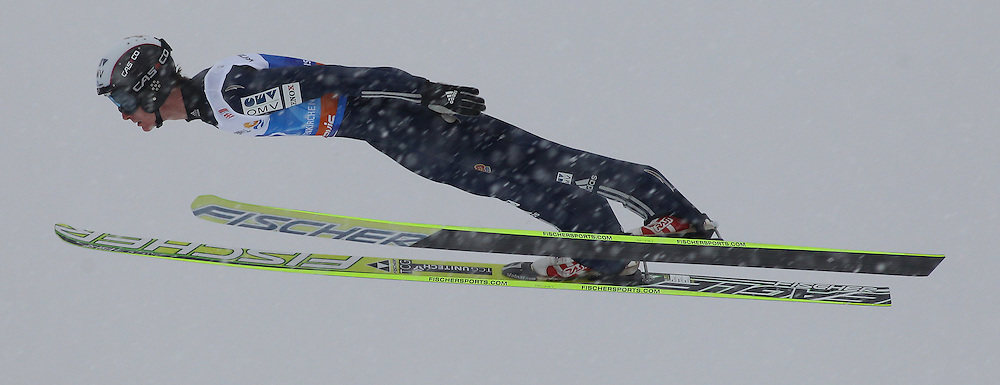 31.12.2011, Olympia Skisprungschanze, Garmisch Partenkirchen, GER, 60. Vierschanzentournee, FIS Ski Sprung Weltcup, Training, im Bild Lukas HLAVA (CZE) // Lukas HLAVA (CZE) during a practice session of 60th Four-Hills-Tournament FIS World Cup Ski Jumping at Olympia Skisprungschanze, Garmisch Partenkirchen, Germany on 2011/12/31. EXPA Pictures © 2011, PhotoCredit: EXPA/ Sven Kiesewetter