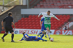 WREXHAM, WALES - Monday, May 2, 2016: The New Saints' Kai Edwards in action against Airbus UK Broughton during the 129th Welsh Cup Final at the Racecourse Ground. (Pic by David Rawcliffe/Propaganda)