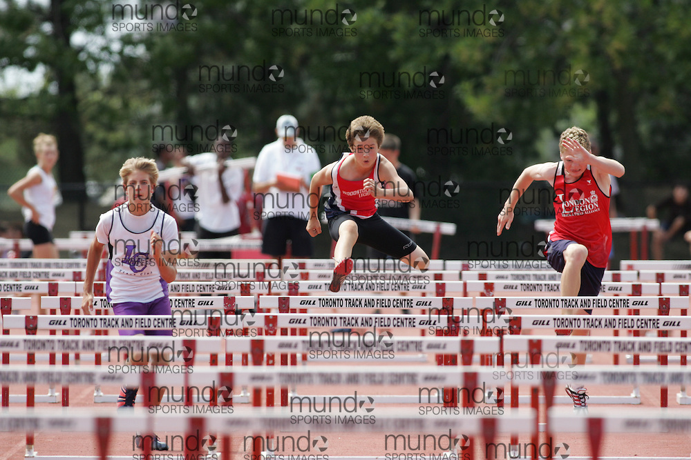 in the sprint hurdles at the 2007 OTFA Supermeet II. The Ontario Track and Field Association Bantam-Midget-Juvenile Championships were held in Toronto from August 3rd to 5th.