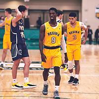 2nd year guard, Nigel Warden (9) of the Regina Cougars <br /> during the Men's Basketball Home Game on Fri Nov 02 at Centre for Kinesiology,Health and Sport. Credit: Arthur Ward/Arthur Images