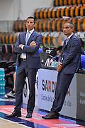 DESCRIZIONE : Campionato 2014/15 Dinamo Banco di Sardegna Sassari - Olimpia EA7 Emporio Armani Milano Playoff Semifinale Gara6<br /> GIOCATORE : Roberto Begnis Saverio Lanzarini<br /> CATEGORIA : Arbitro Referee Before Pregame<br /> SQUADRA : AIAP<br /> EVENTO : LegaBasket Serie A Beko 2014/2015 Playoff Semifinale Gara6<br /> GARA : Dinamo Banco di Sardegna Sassari - Olimpia EA7 Emporio Armani Milano Gara6<br /> DATA : 08/06/2015<br /> SPORT : Pallacanestro <br /> AUTORE : Agenzia Ciamillo-Castoria/L.Canu