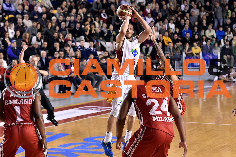 DESCRIZIONE : Roma Lega A 2014-2015 Acea Roma EA7 Emporio Armani Milano<br /> GIOCATORE : Brandon Triche<br /> CATEGORIA : tiro three points<br /> SQUADRA : Acea Roma<br /> EVENTO : Campionato Lega A 2014-2015<br /> GARA : Acea Roma EA7 Emporio Armani Milano<br /> DATA : 21/12/2014<br /> SPORT : Pallacanestro<br /> AUTORE : Agenzia Ciamillo-Castoria/Max.Ceretti<br /> GALLERIA : Lega Basket A 2014-2015<br /> FOTONOTIZIA : Roma Lega A 2014-2015 Acea Roma EA7 Emporio Armani Milano<br /> PREDEFINITA :