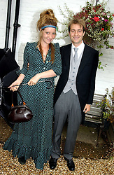 BEN & KATE GOLDSMITH at the wedding of Tom Parker Bowles to Sara Buys at St.Nicholas Church, Rotherfield Greys, Oxfordshire on 10th September 2005.<br />