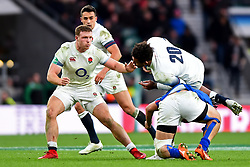 November 25, 2017 - London, England, United Kingdom - England's Sam Simmonds watches Courtney Lawes being tackled during Old Mutual Wealth Series between England against Samoa at Twickenham stadium , London on 25 Nov 2017  (Credit Image: © Kieran Galvin/NurPhoto via ZUMA Press)