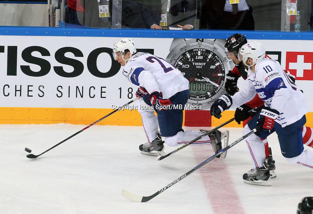 Antoine Roussel  - 09.05.2015 - Canada  / France  - Championnats du Monde de Hockey sur Glace 2015 -Prague<br />Photo : Xavier Laine / Icon Sport