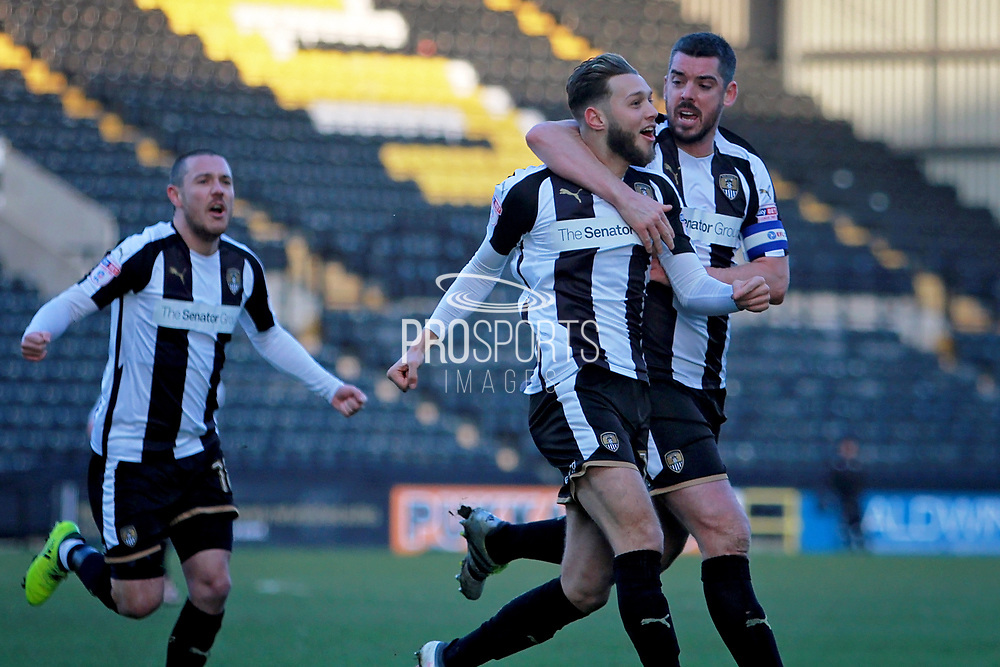 Notts County's Jorge Grant(10) celebrates his goal with team mates during the EFL Sky Bet League 2 match between Notts County and Stevenage at Meadow Lane, Nottingham, England on 24 February 2018. Picture by Nigel Cole.