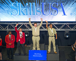 The 2017 SkillsUSA National Leadership and Skills Conference Competition Medalists were announced Friday, June 23, 2017 at Freedom Hall in Louisville. <br /> <br /> Building Maintenance<br /> <br /> Tommy Burroughs<br />   High School Indian Capital Technology Center-Stilwell<br />   Gold Stilwell, OK<br /> Building MaintenanceNathan Harris<br />   High School Poinciana High School<br />   Silver Kissimmee, FL<br /> Building MaintenanceTyler Shanley<br />   High School Bedford Science & Tech Center<br />   Bronze Bedford, VA