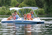 Idaho, Lifestyle, MR, Paddle boat, People, Summer, Sun Valley, children, family, lake, x games* model releasesed