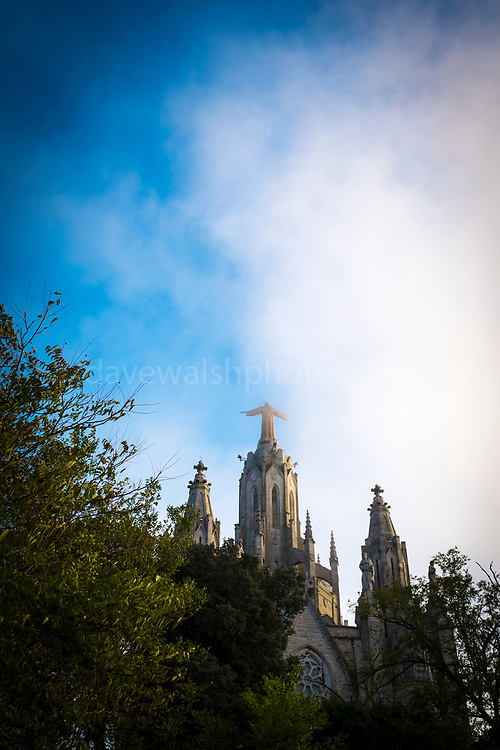 "Temple Expiatori del Sagrat Cor -  Expiatory Church of the Sacred Heart of Jesus, Tibidabo, Barcelona. Designed by architect Enric Sagnier. This mage can be licensed via Millennium Images. Contact me for more details, or email mail@milim.com For prints, contact me, or click ""add to cart"" to some standard print options."