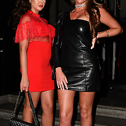 Chloe Bowler and Claudia Smith  attend TMA Talent Management Group host launch party for their new dating app, The List at 100 Wardour Street  on 3rd April 2019, London, UK.