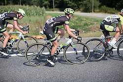 Molly Weaver (GBR) of Liv-Plantur Cycling Team swings sideways in the third lap of the 121.5 km road race of the UCI Women's World Tour's 2016 Grand Prix Plouay women's road cycling race on August 27, 2016 in Plouay, France. (Photo by Balint Hamvas/Velofocus)