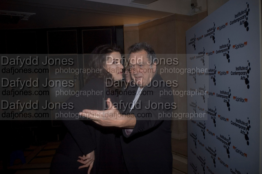 NIGELLA LAWSON AND STEPHEN FREARS, Figures of Speech ICA Fundraising Gala dinner. Lawrence Hall, Victoria. London. 27 February 2008 *** Local Caption *** -DO NOT ARCHIVE-© Copyright Photograph by Dafydd Jones. 248 Clapham Rd. London SW9 0PZ. Tel 0207 820 0771. www.dafjones.com.