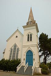 Mendocino's First Presbyterian Church, Mendocino, California, USA.