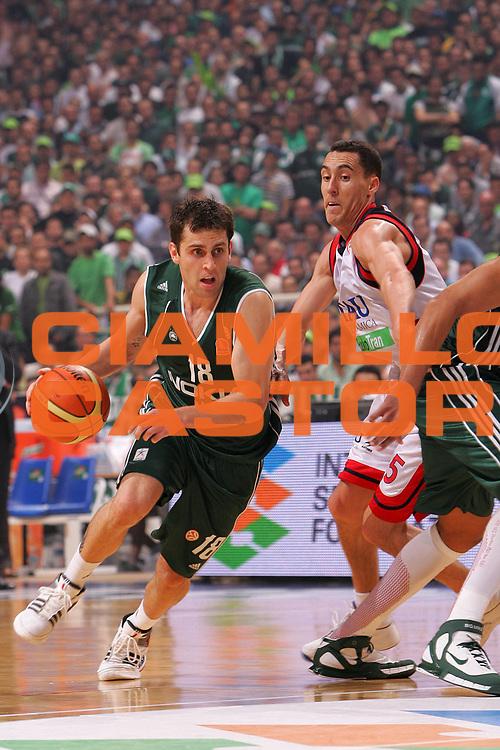 DESCRIZIONE : Atene Athens Eurolega Euroleague 2006-07 Final Four Semifinale Semifinal Panathinaikos Atene Tau Ceramica Vitoria <br /> GIOCATORE : Vujanic <br /> SQUADRA : Panathinaikos Atene <br /> EVENTO : Eurolega 2006-2007 Final Four Semifinal Semifinale <br /> GARA : Panathinaikos Atene Tau Vitoria <br /> DATA : 04/05/2007 <br /> CATEGORIA : Penetrazione <br /> SPORT : Pallacanestro <br /> AUTORE : Agenzia Ciamillo-Castoria/S.Silvestri