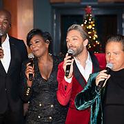NLD/Hilversum/20181002 - Artiesten Holland zingt Kerst 2018, Dwight Dissel, Edsilia Rombley, Tommie Christiaan en Danny de Munk