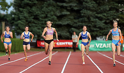 Sabina Veit (at R Pia Tajnikar) at Athletic National Championship of Slovenia, on July 20, 2008, in Stadium Poljane, Maribor, Slovenia. (Photo by Vid Ponikvar / Sportal Images).