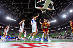 Pero Antic of Macedonia at friendly match between Serbia and Macedonia for Adecco Cup 2011 as part of exhibition games before European Championship Lithuania on August 7, 2011, in SRC Stozice, Ljubljana, Slovenia. (Photo by Urban Urbanc / Sportida)