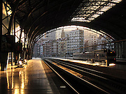 This is the view out from the Abando railway station in Bilbao, captured in the early evening as the sun was beginning to set.