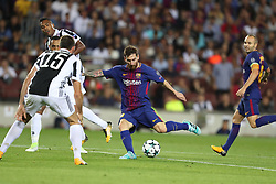 September 12, 2017 - Barcelona, Spain - Lionel Messi of FC Barcelona kicks the ball to score his side's third goal during the UEFA Champions League, Group D football match between FC Barcelona and Juventus FC on September 12, 2017 at Camp Nou stadium in Barcelona, Spain. (Credit Image: © Manuel Blondeau via ZUMA Wire)