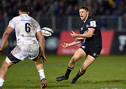 Rhys Priestland of Bath Rugby passes the ball - Mandatory byline: Patrick Khachfe/JMP - 07966 386802 - 06/12/2019 - RUGBY UNION - The Recreation Ground - Bath, England - Bath Rugby v Clermont Auvergne - Heineken Champions Cup