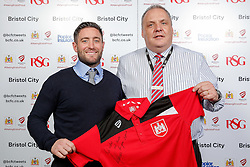 Manager Lee Johnson of Bristol City poses during the Player Sponsors' Evening in the Sports Bar & Grill at Ashton Gate - Mandatory byline: Rogan Thomson/JMP - 11/04/2016 - FOOTBALL - Ashton Gate Stadium - Bristol, England - Bristol City Player Sponsors' Evening.