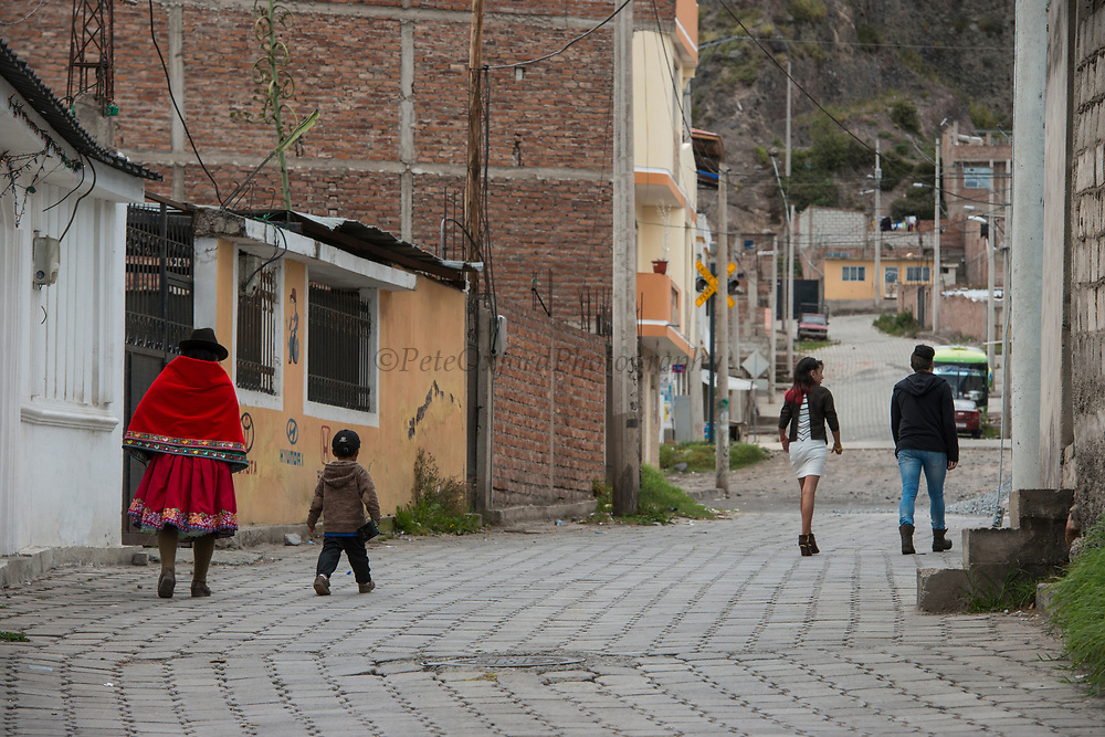 Quichua people<br /> Riobamba<br /> Cordillera Occidental, Andes<br /> ECUADOR, South America