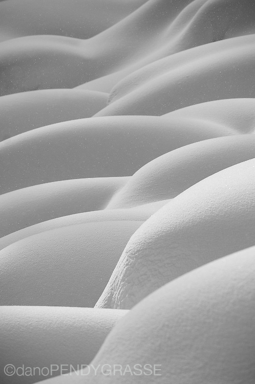 The snow forms beautiful shapes. Kootenay Mountains, British Columbia.