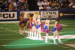14 March 2009: The Extreme Dance Team gets set for a routine during a game break. The Sioux Falls Storm were hosted by the Bloomington Extreme in the US Cellular Coliseum in downtown Bloomington Illinois.
