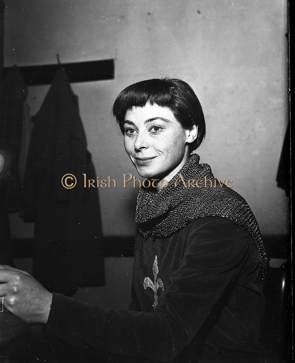 Siobhan Mc Kenna (Mrs Dennis O'Dea)..1963..10.12.1963..12.10.1963..10th December 1963..Picture shows actress Siobhán McKenna dressed for her role of Joan of Arc. Ms McKenna is married to Abbey stalwart Mr Denis O'Dea.