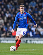 Andy Cannon (14) of Portsmouth during the The FA Cup match between Portsmouth and Barnsley at Fratton Park, Portsmouth, England on 25 January 2020.