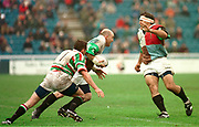 1997 Heineken European Cup,, NEC Harlequins V Leicester Tigers Stoop 18-4-98 Quins'  Keith Wood, breaks from the ruck. Chris Sheasby [right]   © Peter Spurrier [Mandatory Credit, Peter Spurrier/ Intersport Images]