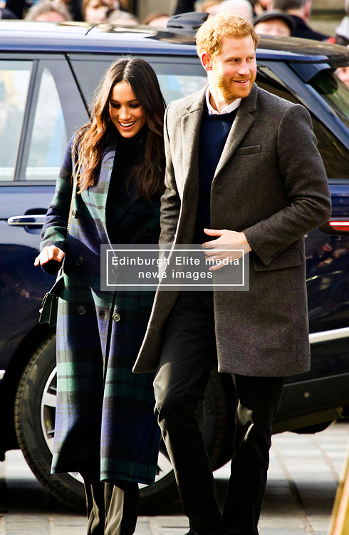 Meghan Markle and Prince Harry head to Social Bite on Rose St Edinburgh, copyright Terry Murden/EdinburghEliteMedia.co.uk