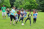 Sport und Spiel im Park