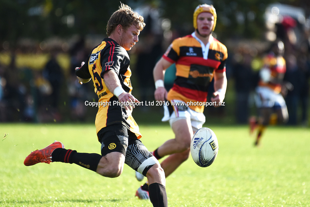 Jesse Dodunski during the Ranfurly Shield match - Waikato vs Thames Valley at Paeroa Domain, Paeroa, New Zealand on the 6th June 2016. Photo: Jeremy Ward / www.photosport.nz