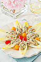 Endive Leaves with Crab Salad <br />