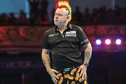 Peter Wright misses a dart at a double during the BetVictor World Matchplay Darts 2018 semi final at Winter Gardens, Blackpool, United Kingdom on 28 July 2018. Picture by Shane Healey.